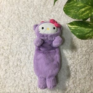 Sanrio Hello Kitty plush body zip up pouch